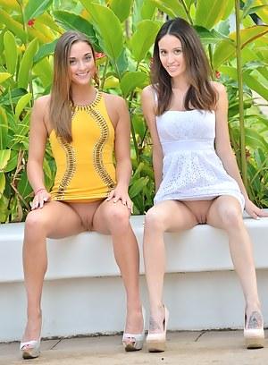 Lesbian Upskirt Porn Pictures